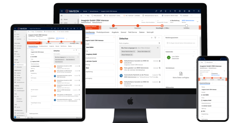 Screenshot CRM Software Microsoft Dynamics 365 for Customer Engagement