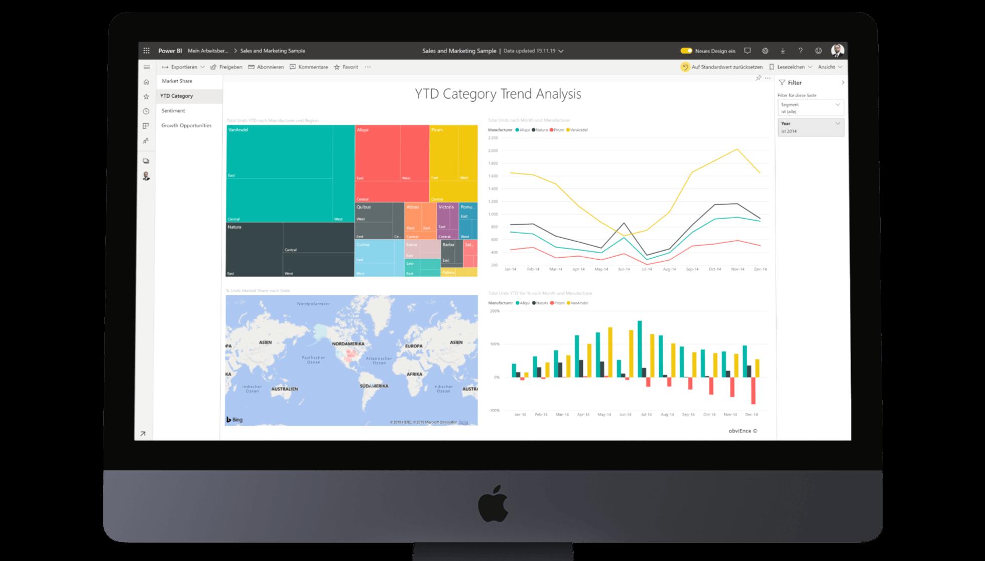 Screenshot Business Intelligence Software Microsoft PowerBI