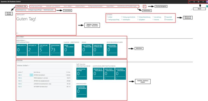 Screenshot ERP Webclient