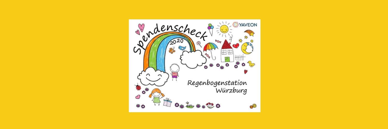 Fröhliche Weihnachten: Spendenscheck Station Regenbogen