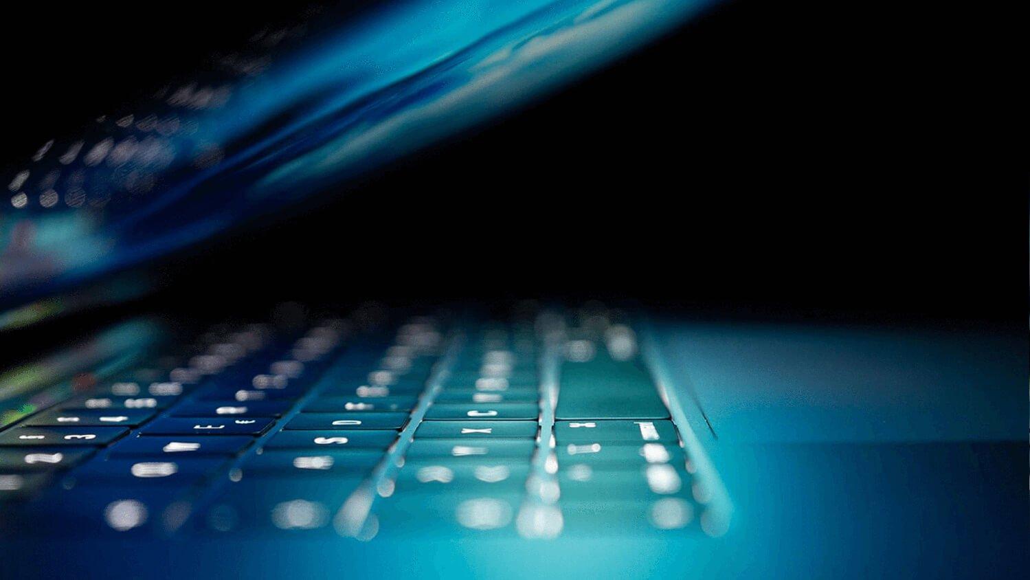 Laptop mit guter IT-Sicherheit