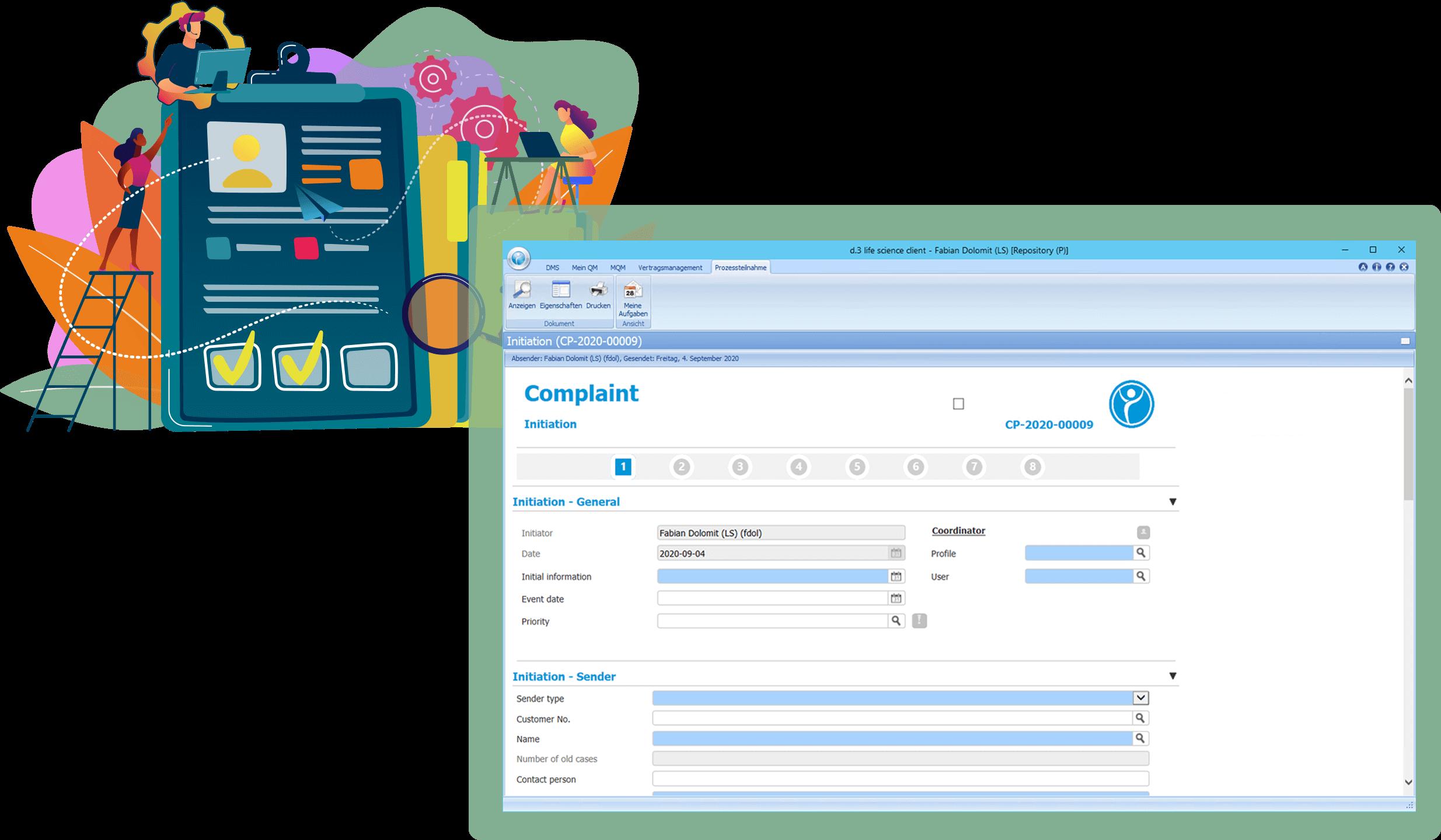 Preview QM module Complaint Management