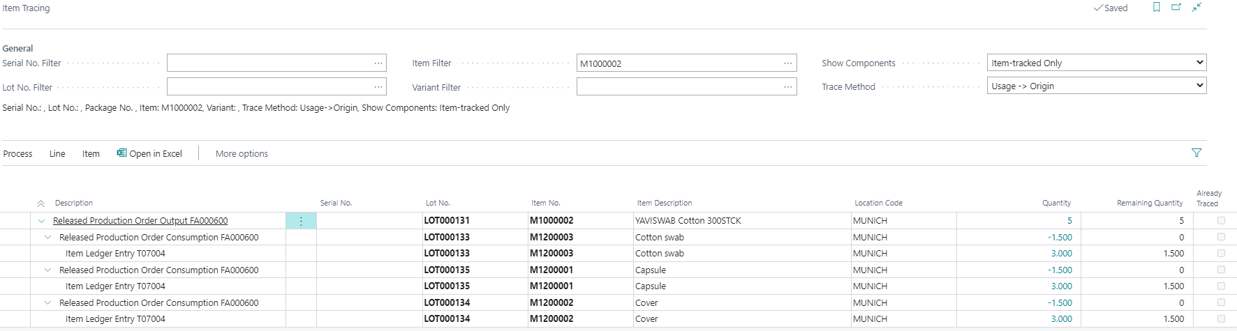 Detailscreenshot Function Lot Management MedTec