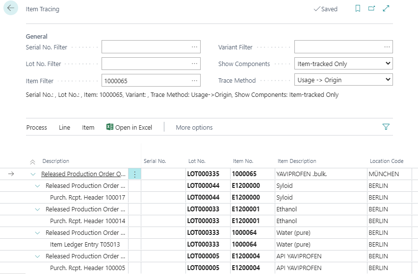 Detailscreenshot Function Lot Management Pharmaceutical