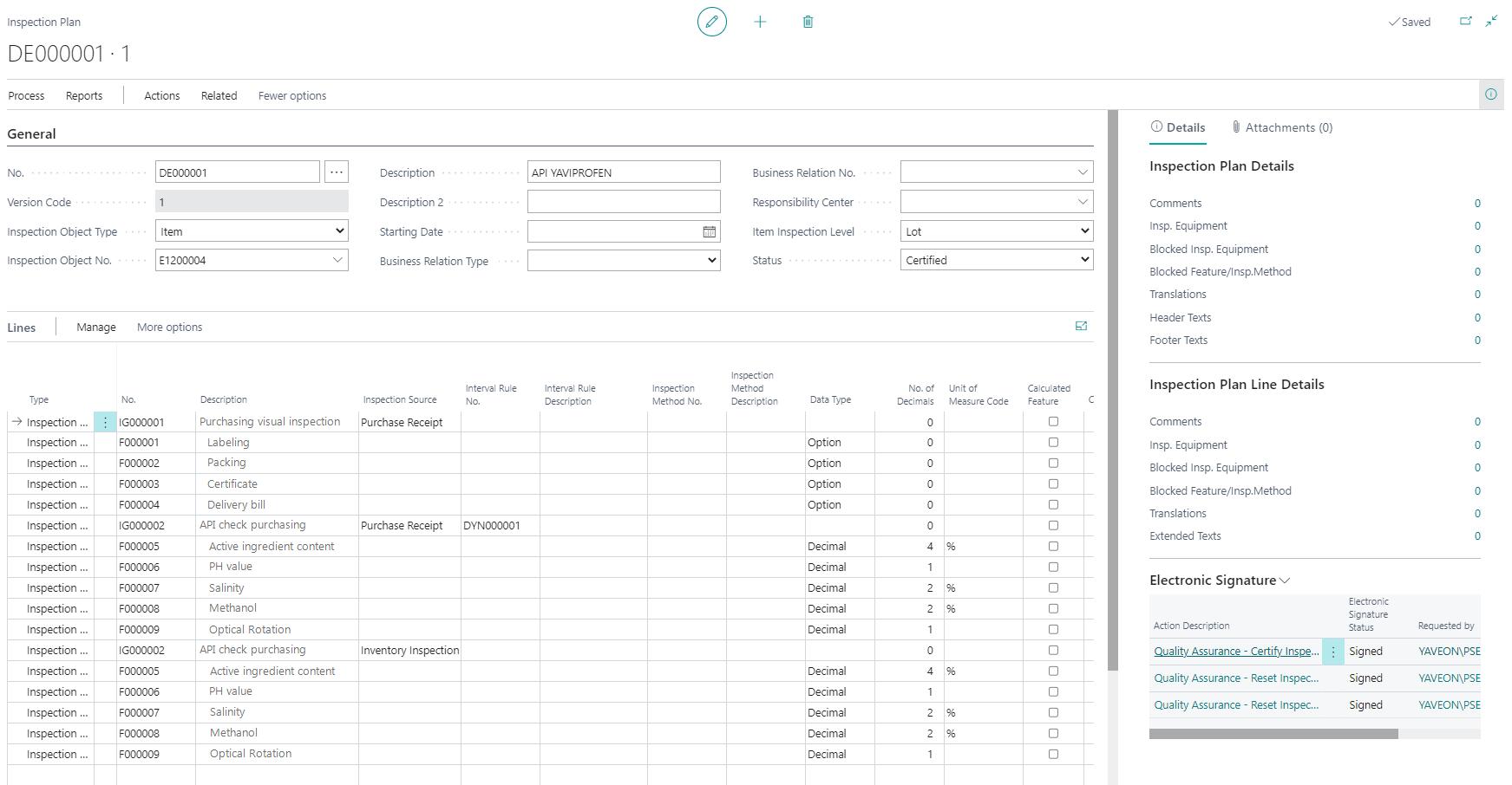 Detailscreenshot Function Quality Control Pharmaceutical