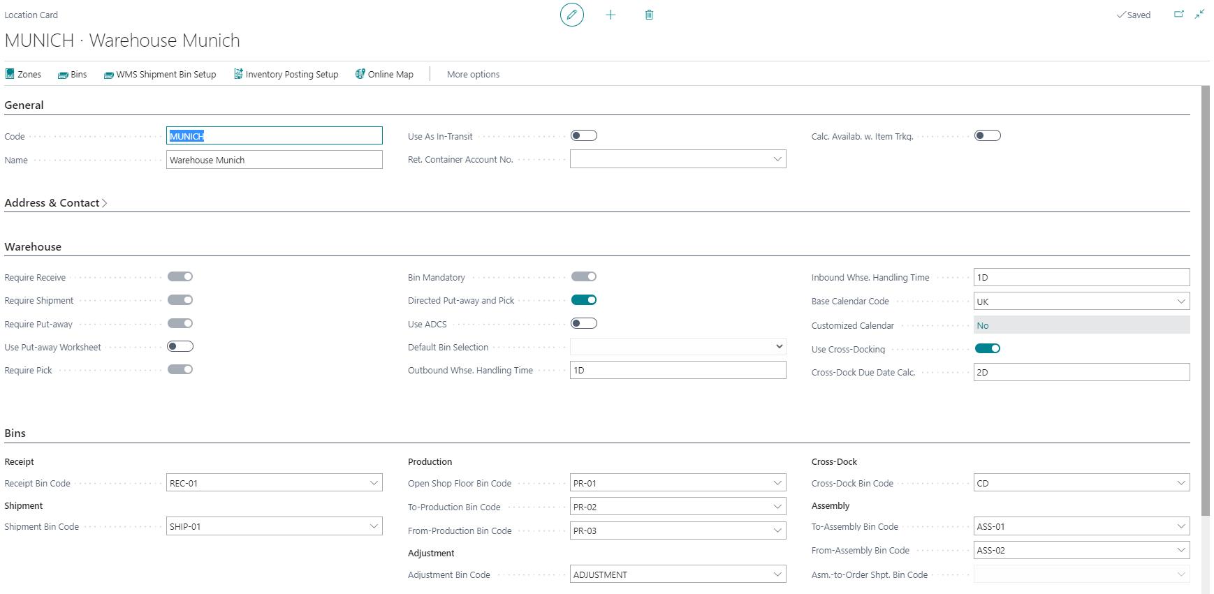 Detailscreenshot Function Warehouse Management