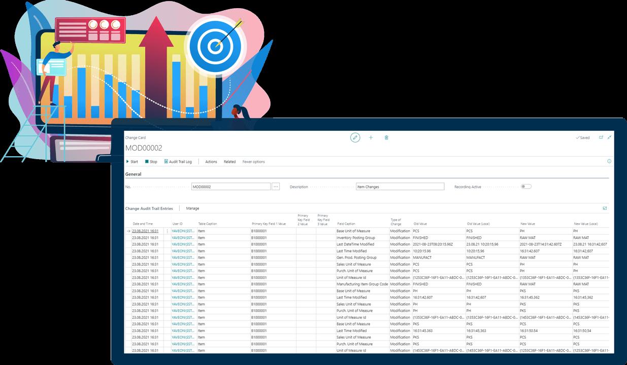 Screenshot Function Audit-Trail MedTec