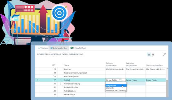 Screenshot Funktion Audit-Trail Biotech