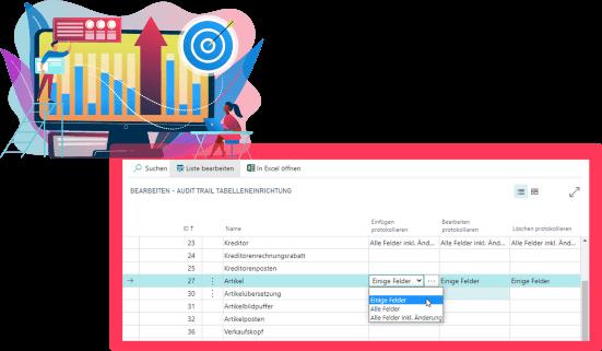 Screenshot Funktion Audit-Trail Kosmetik