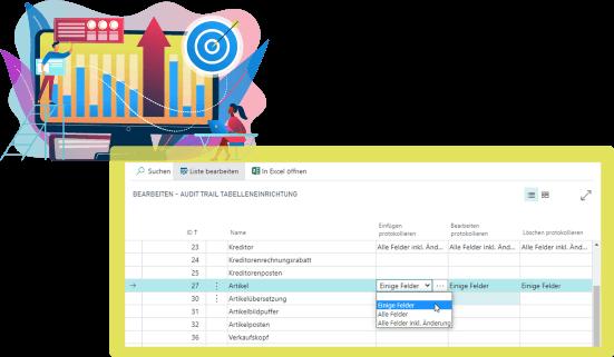 Screenshot Funktion Audit-Trail Pharma