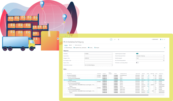 Screenshot Funktion Chargenmanagement Pharma