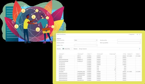 Screenshot Funktion Handel Pharma