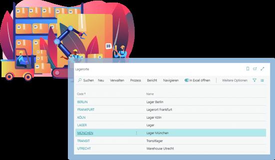 Screenshot Funktion Lagerverwaltung Biotech